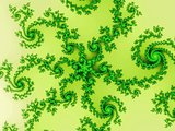Decorate fractal background with spirals