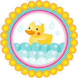 Label bath duck