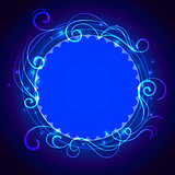 Abstract blue mystic lace background with swirl pattern and frame for text