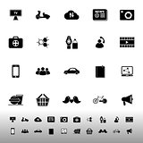 Social network icons on white background