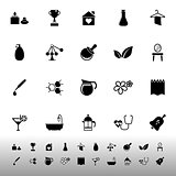 Spa treatment icons on white background