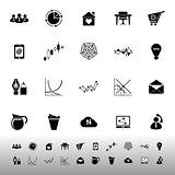 Virtual organization icons on white background