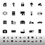 General home stay icons on white background