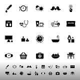 Health behavior icons on white background