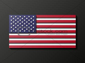 Modern style U.S. flag