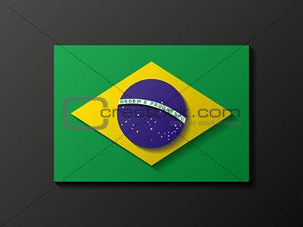 Modern style brazilian flag
