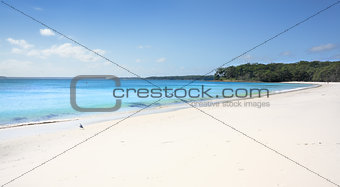 Greenfields Beach aqua waters and white sandy shore, Australia