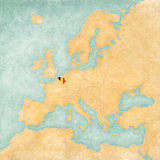 Map of Europe - Belgium (Vintage Series)