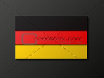 Modern style german flag