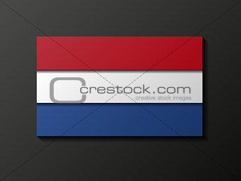 Modern style Netherlandish flag