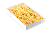 uncooked egg pasta in box