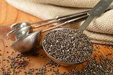 Healthy organic chia seeds