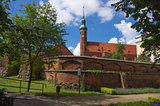 The st.Jacek Church (14-th century) in Slupsk, Poland.