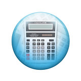Big calculator. Spherical glossy button