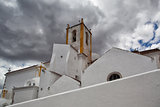 Church of Santa Maria do Castelo before storm,,Tavira, Algarve,