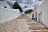 Long stairs to the  Church of Santa Maria do Castelo,Tavira, Por