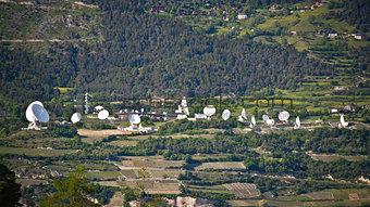 Plenty of satelite antennas