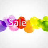 Watercolor Sale Poster