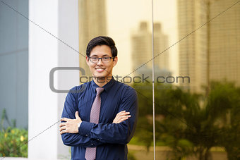 Portrait of proud and confident chinese office worker