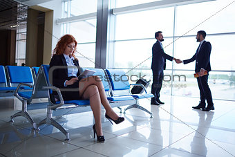 Business people in airport