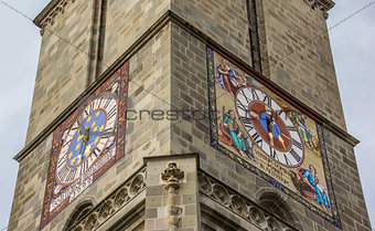 Clocks of the black church of Brasov