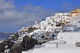 Village Katherados on greek island Santorini