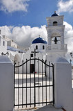 greek orthodox church on santorini island