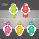 Modern timeline design template. eps 10