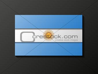 Modern style Argentinean flag