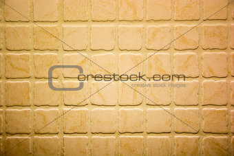 Close up shot of rough terracotta tiles