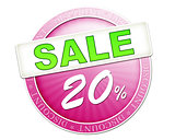 sale button 20%