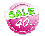 sale button 40%