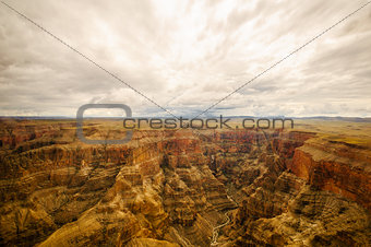 look into Grand Canyon