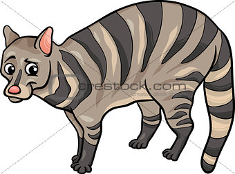 civet animal cartoon illustration