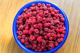 Juicy ripe raspberry