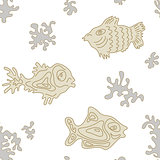Seamless Marine Vector Pattern