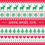 Bonne Annee 2015 - French happy new year pattern