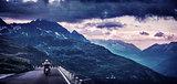Grunge textured landscape