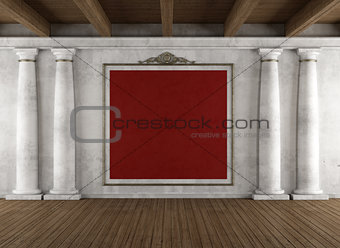 Classic interior with columns