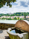 Well and riverside in Passau