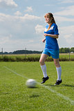 young soccer woman