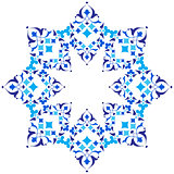 Ottoman motifs blue design series of fifty five version