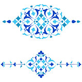 Ottoman motifs blue design series of fifty four.ai