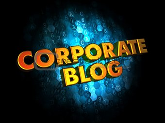 Corporate Blog Concept on Digital Background.