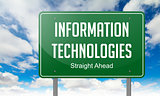 Information Technologies on Green Highway Signpost.