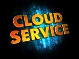 Cloud Service on Digital Background.