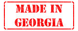 Made in Georgia on Red Rubber Stamp.