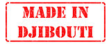 Made in Djibouti on Red Rubber Stamp.