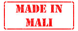 Made in Mali on Red Rubber Stamp.