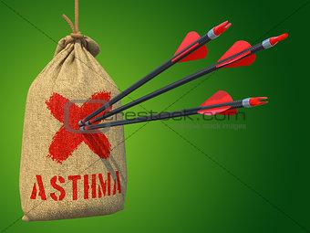 Asthma - Arrows Hit in Red Mark Target.